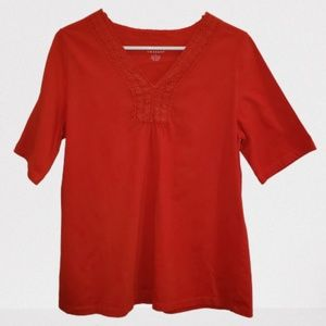Kim Rogers Red Short Sleeve Womens Shirt